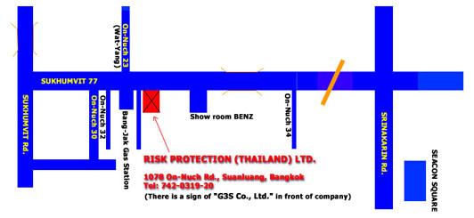 Risk Protection location map Bangkok
